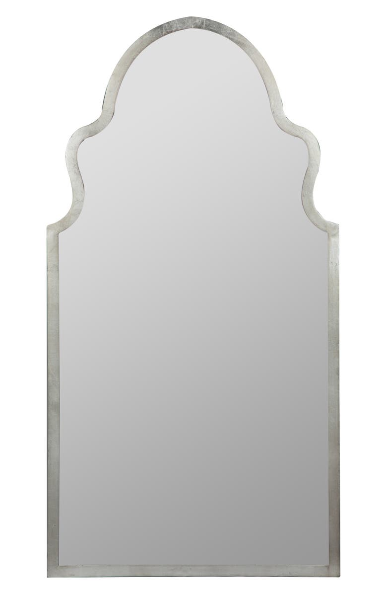 GEORGE AND CO Scalloped Wall Mirror, Main, color, METALLIC SILVER