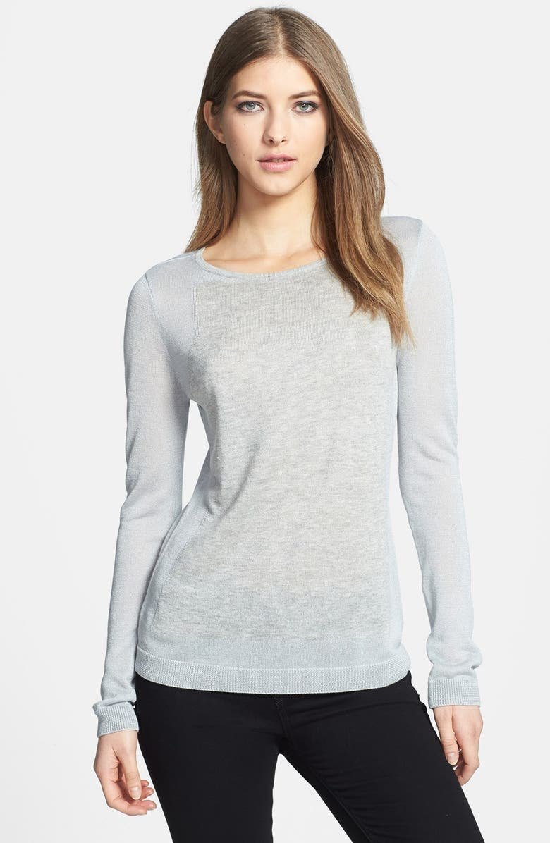 TROUVÉ Mixed Knit Sweater, Main, color, 020