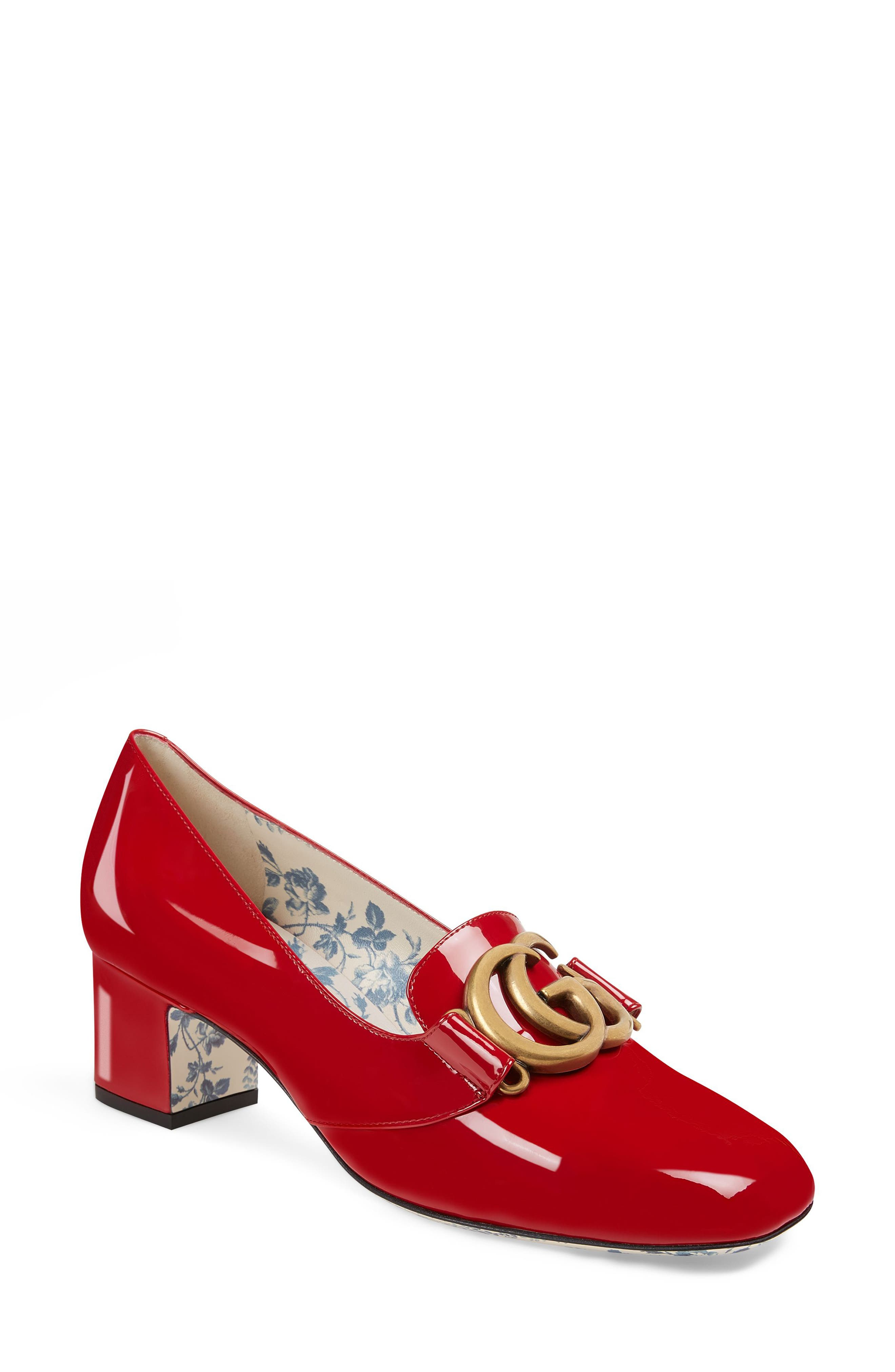 Gucci Loafer Pump - Red