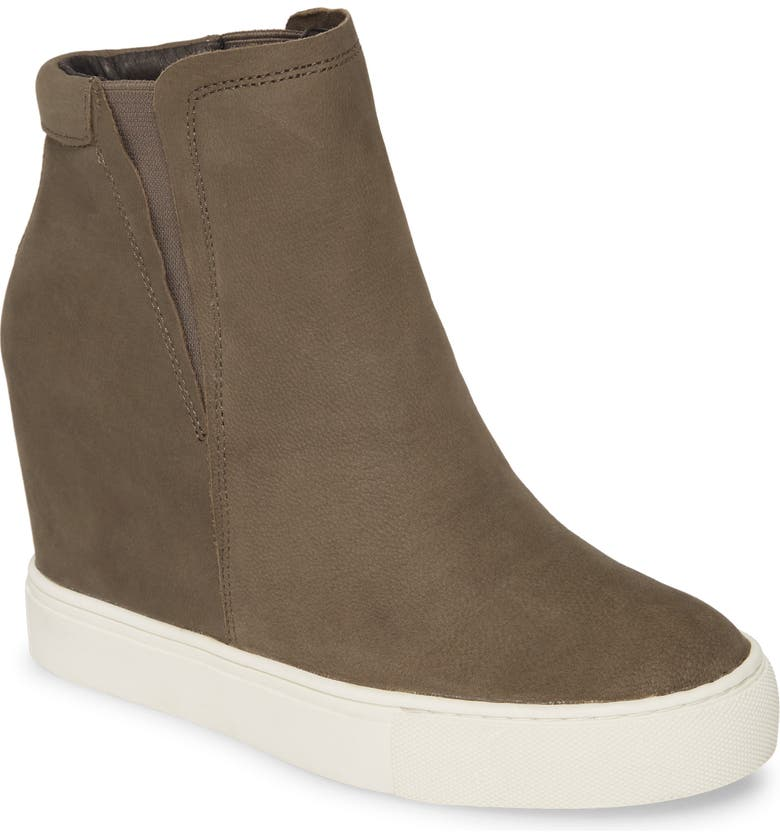 KENNETH COLE NEW YORK Kam Wedge Sneaker, Main, color, CEMENT NUBUCK LEATHER