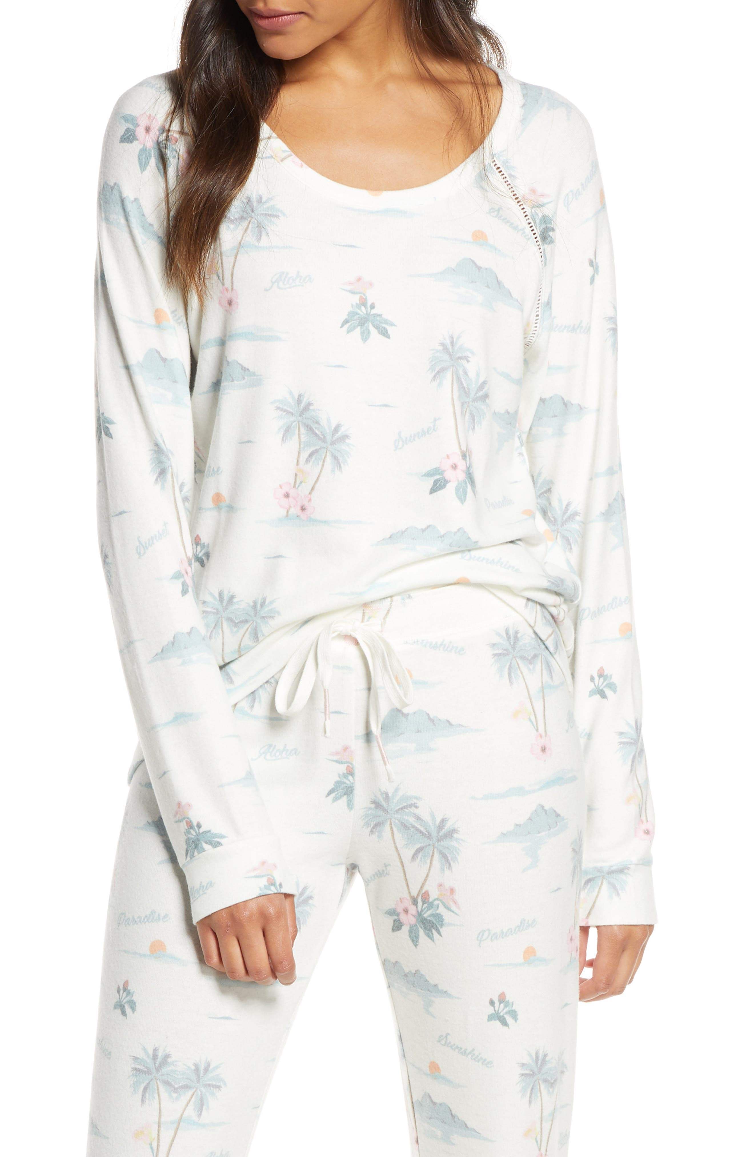 Pj Salvage Paradise Dream Pajama Top, Ivory