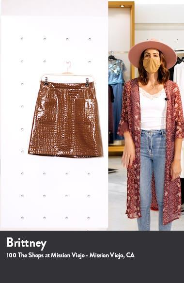 x Atlantic-Pacific Croc Embossed Faux Leather Miniskirt, sales video thumbnail