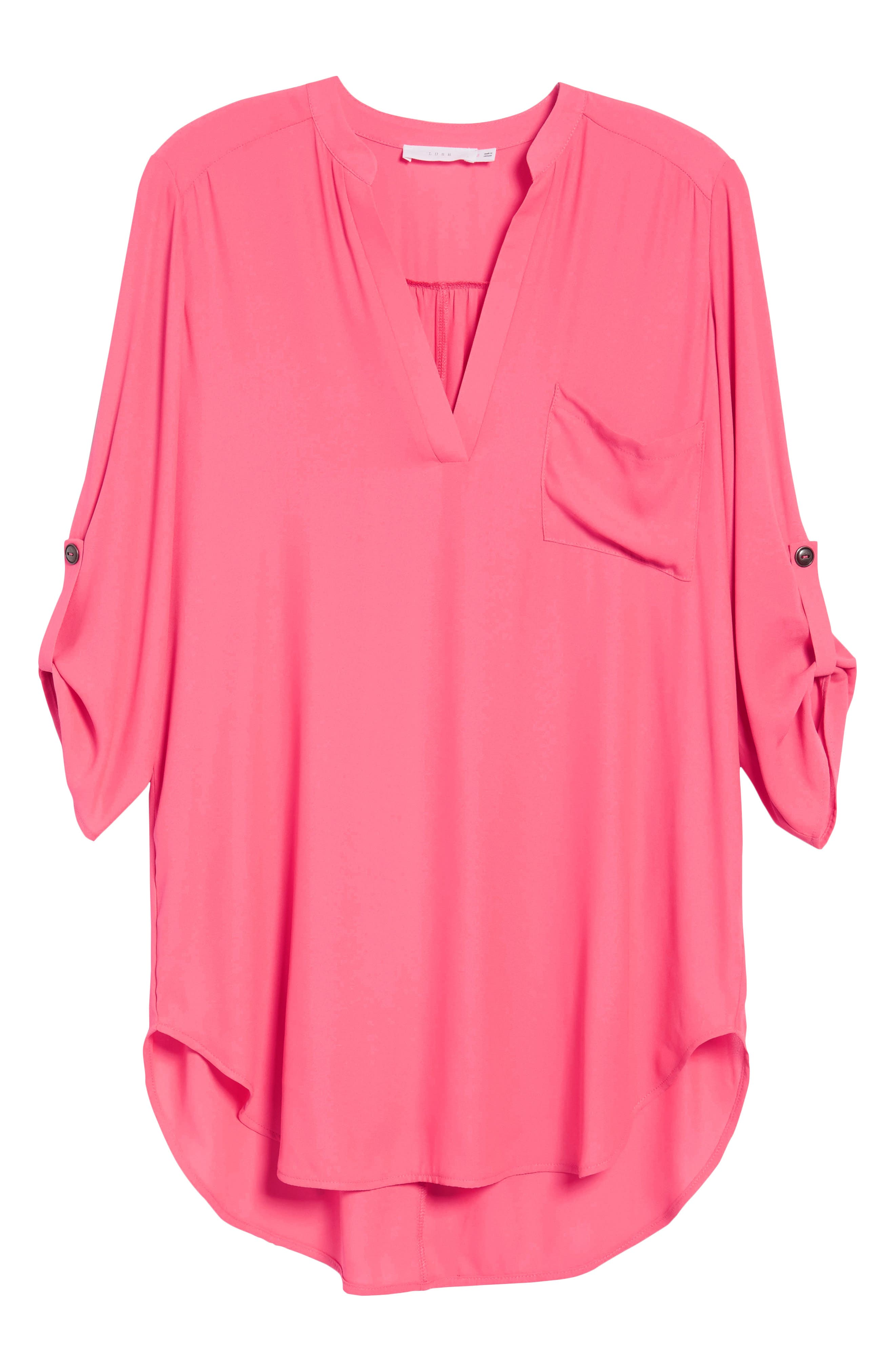 ,                             Perfect Roll Tab Sleeve Tunic,                             Alternate thumbnail 136, color,                             654
