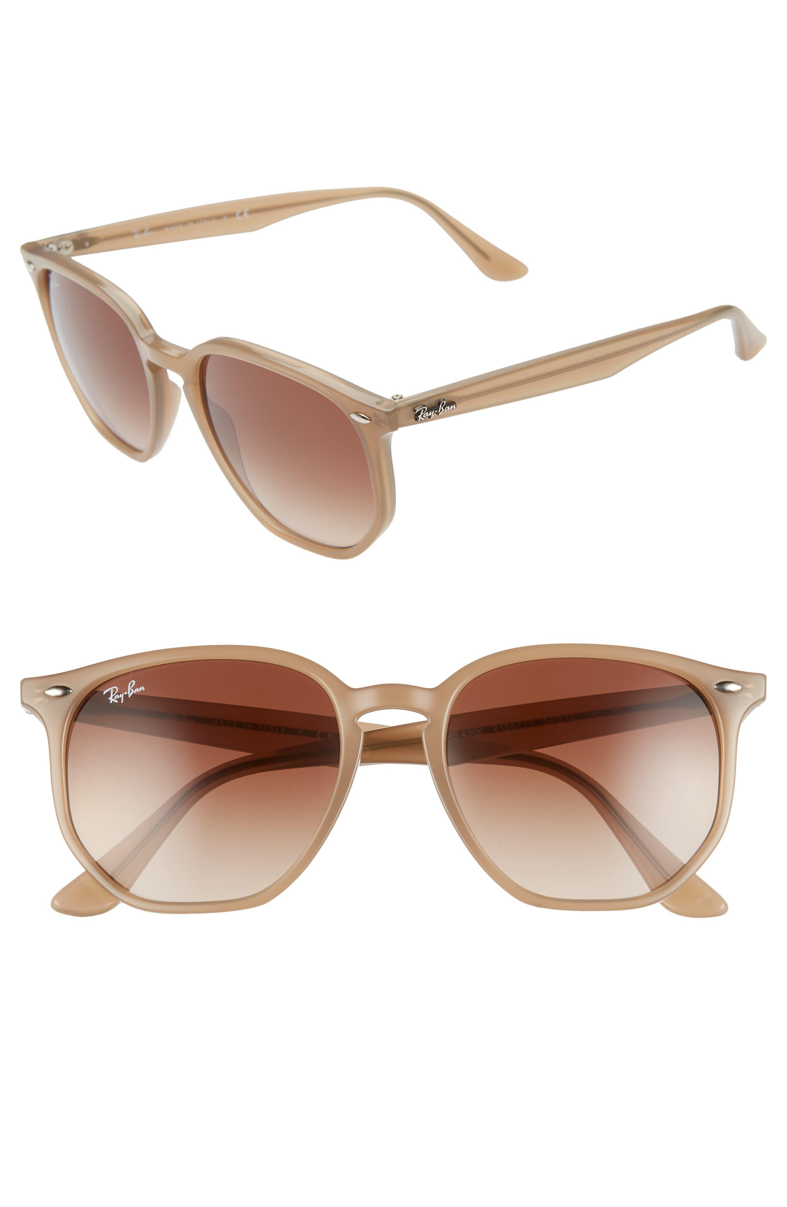Ray-Ban 5m Gradient Round Sunglasses - Opal Beige/ Brown Gradient