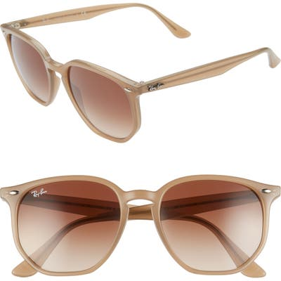 Ray-Ban 5m Gradient Round Sunglasses - Opal Beige/ Brown Gradient