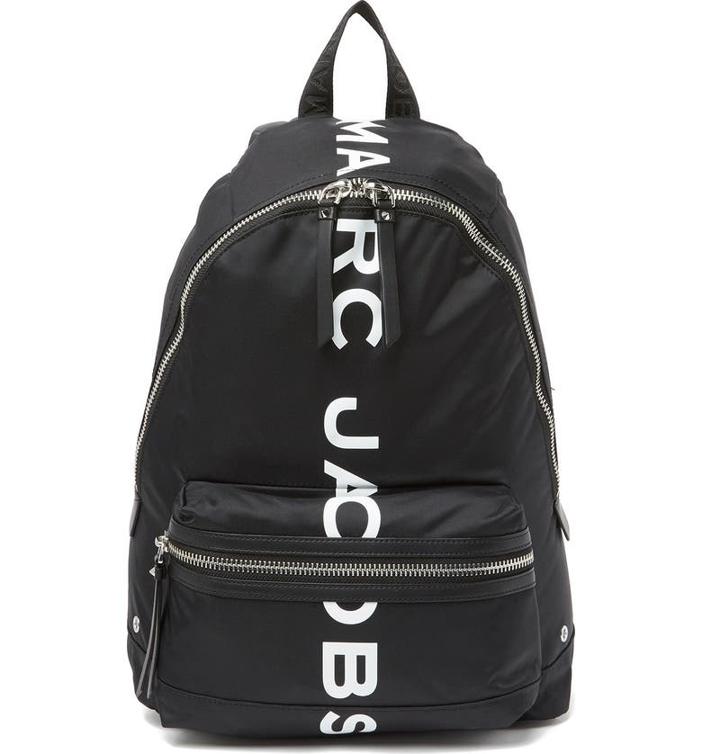 MARC JACOBS Suspiria Logo Print Backpack, Main, color, BLACK