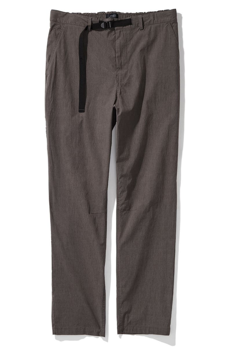 SATURDAYS NYC Shaw Straight Leg Trousers, Main, color, STEEL