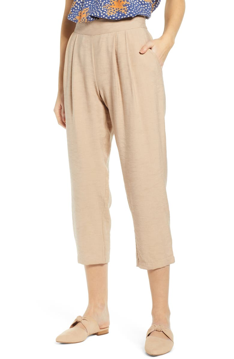 THE ODELLS Pleat Front Ankle Pants, Main, color, 281