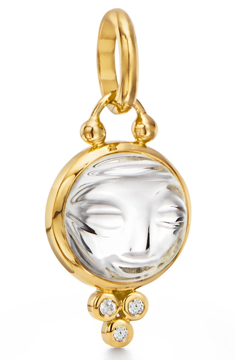 TEMPLE ST. CLAIR Moonface Diamond & Rock Crystal Pendant, Main, color, 710