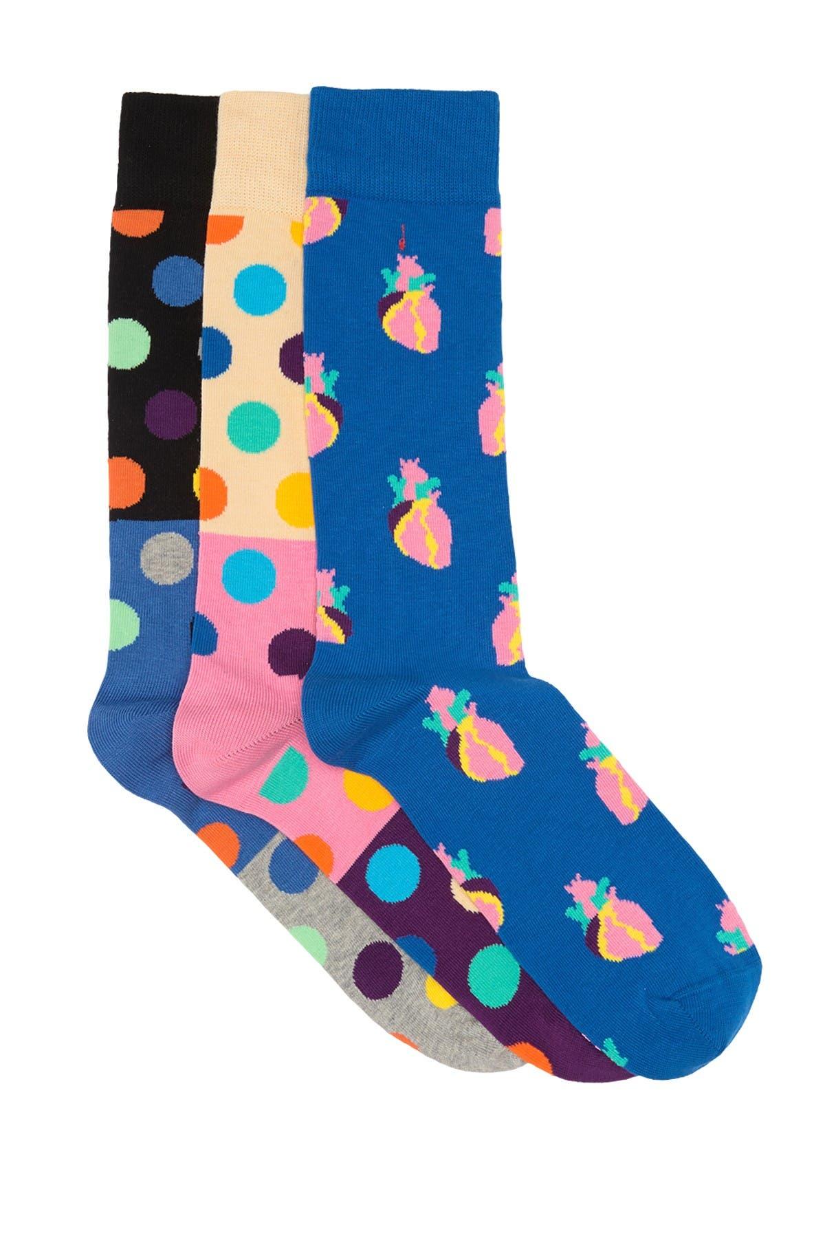 Image of Happy Socks True Love Crew Socks - Pack of 3