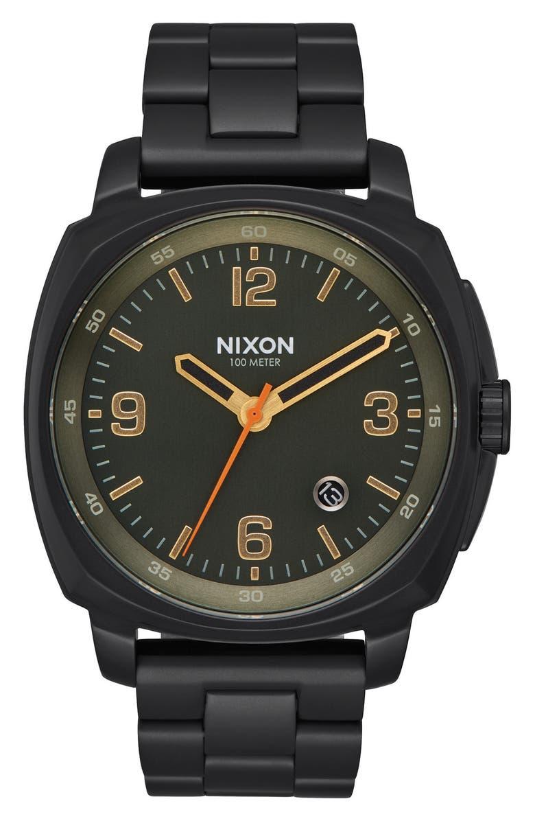 NIXON Charger Bracelet Watch, 42mm, Main, color, 003