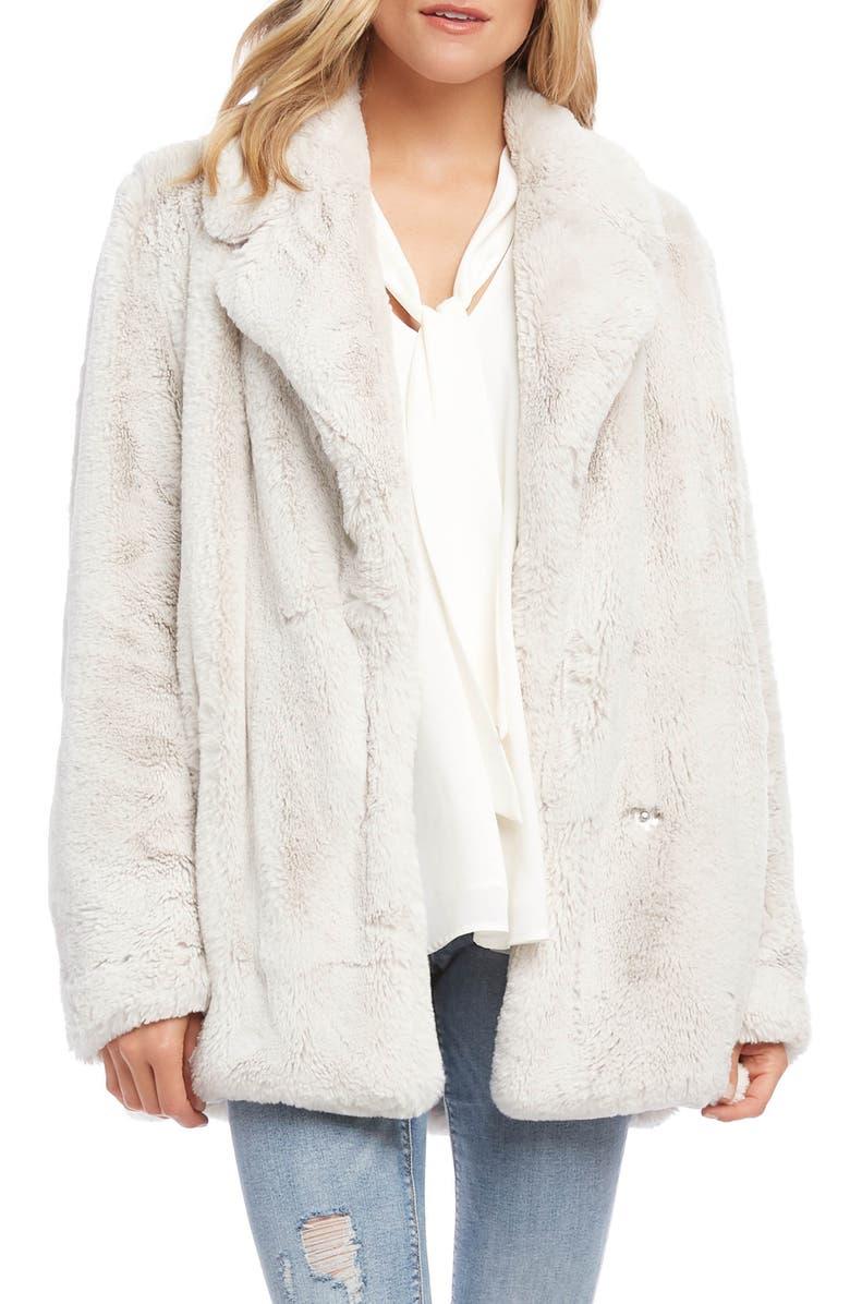 KAREN KANE Faux Fur Jacket, Main, color, 101