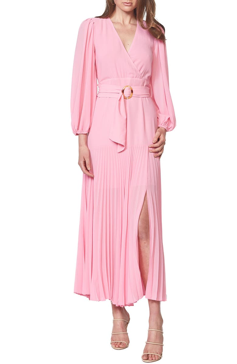 BARDOT Daytona Long Sleeve Maxi Dress, Main, color, VINTAGE PINK