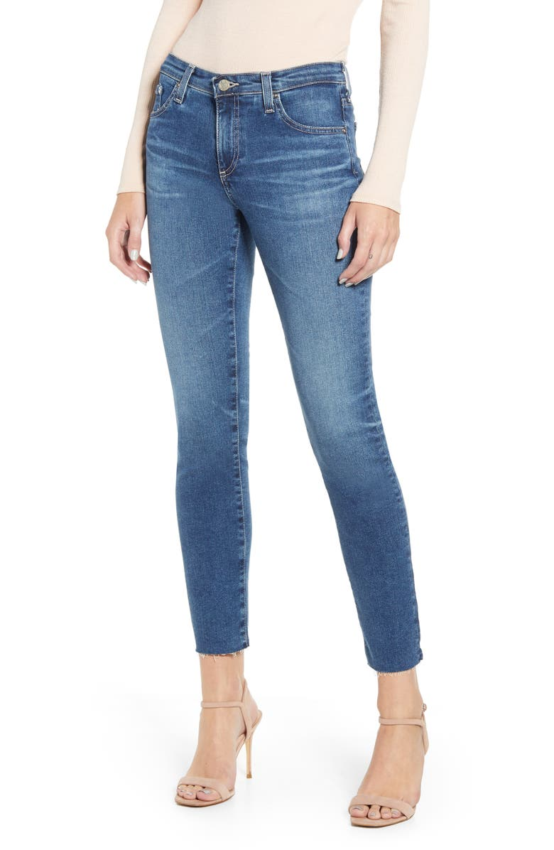 AG The Prima Raw Hem Ankle Cigarette Jeans, Main, color, 456