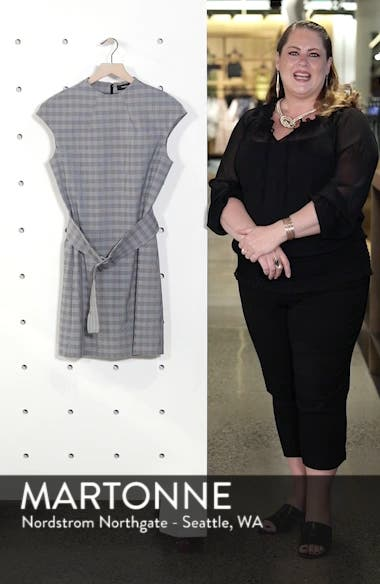 McClair Plaid Mod Belted Sheath Dress, sales video thumbnail