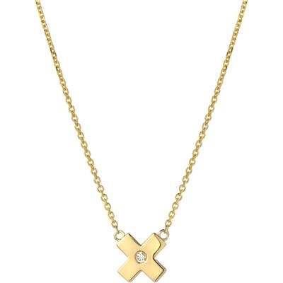 Mini Mini Jewels Forever Collection - X Diamond Pendant Necklace