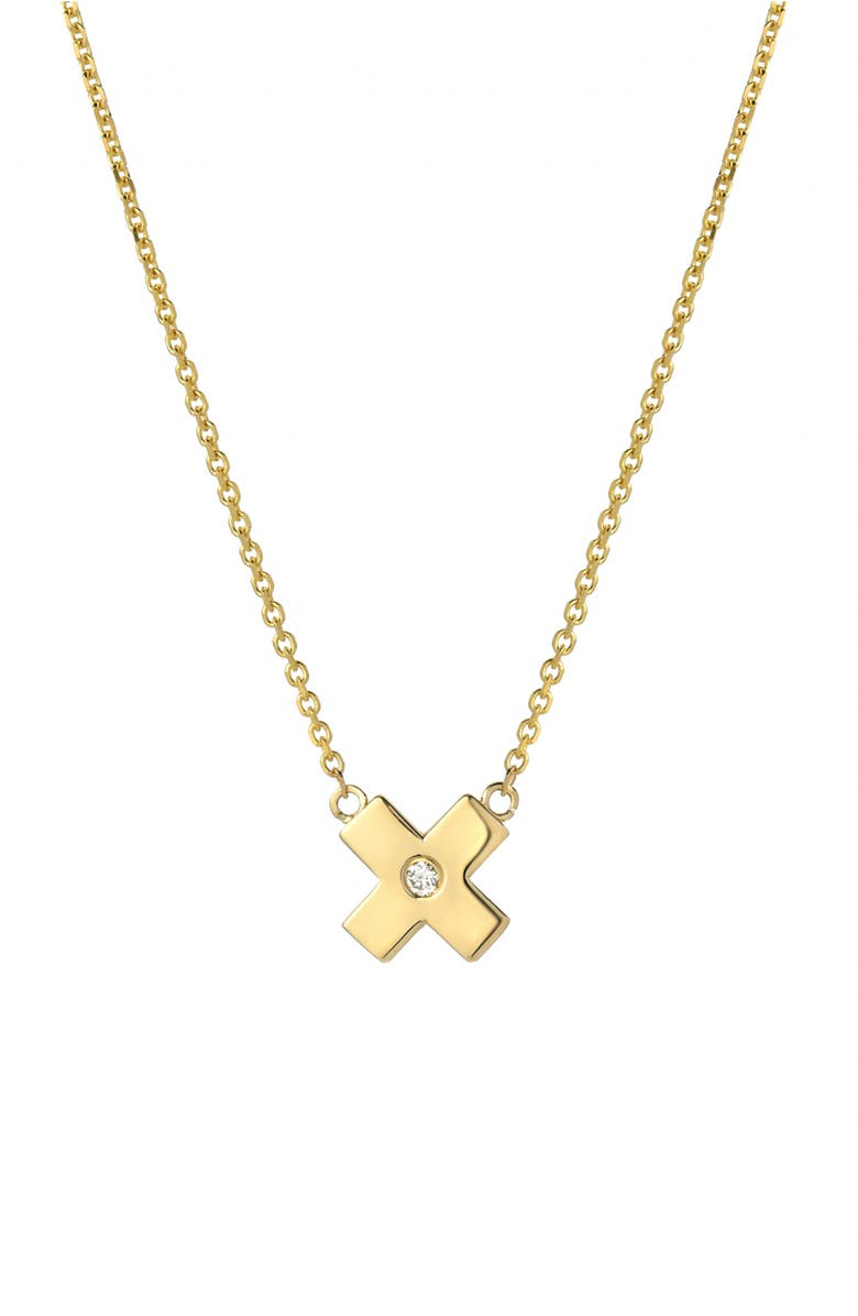 MINI MINI JEWELS Forever Collection - X Diamond Pendant Necklace, Main, color, YELLOW GOLD
