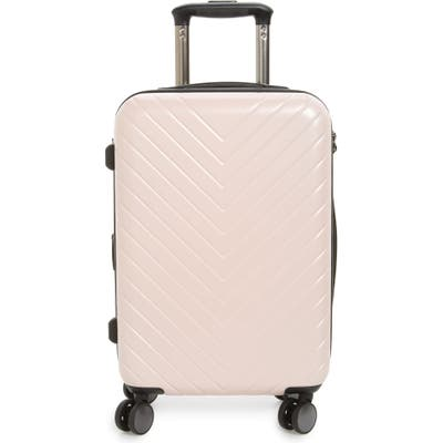 Nordstrom Chevron 20-Inch Spinner Carry-On - Pink