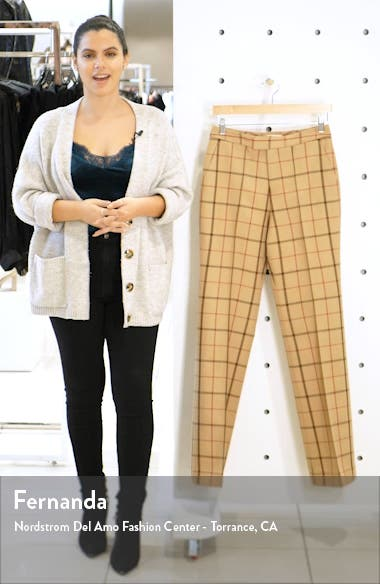 Ally Windowpane Wool Trousers, sales video thumbnail