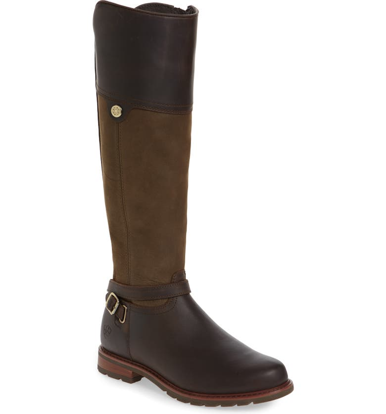 ARIAT Carden Waterproof Knee High Boot, Main, color, CHOCOLATE/ WILLOW