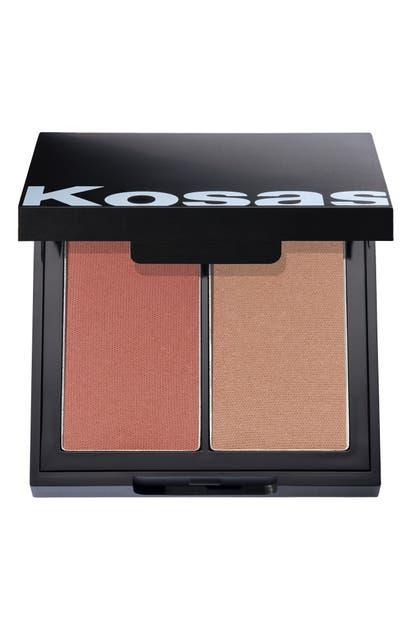 Kosas Color & Light Intensity Powder Blush & Highlighter Palette In Papaya 1972 High Intensity
