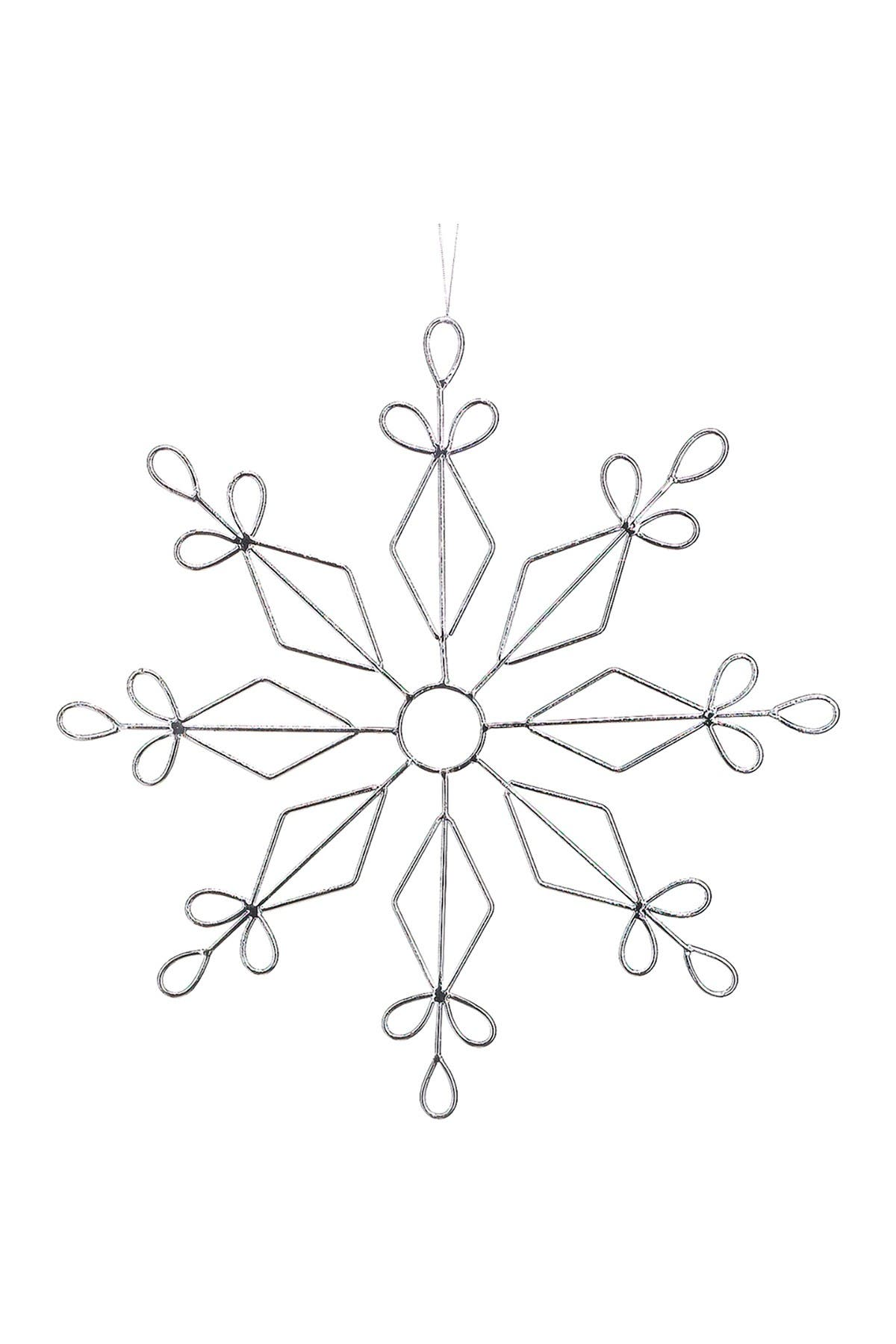 "Image of ALLSTATE 17.25"" Metal Snowflake Ornament"