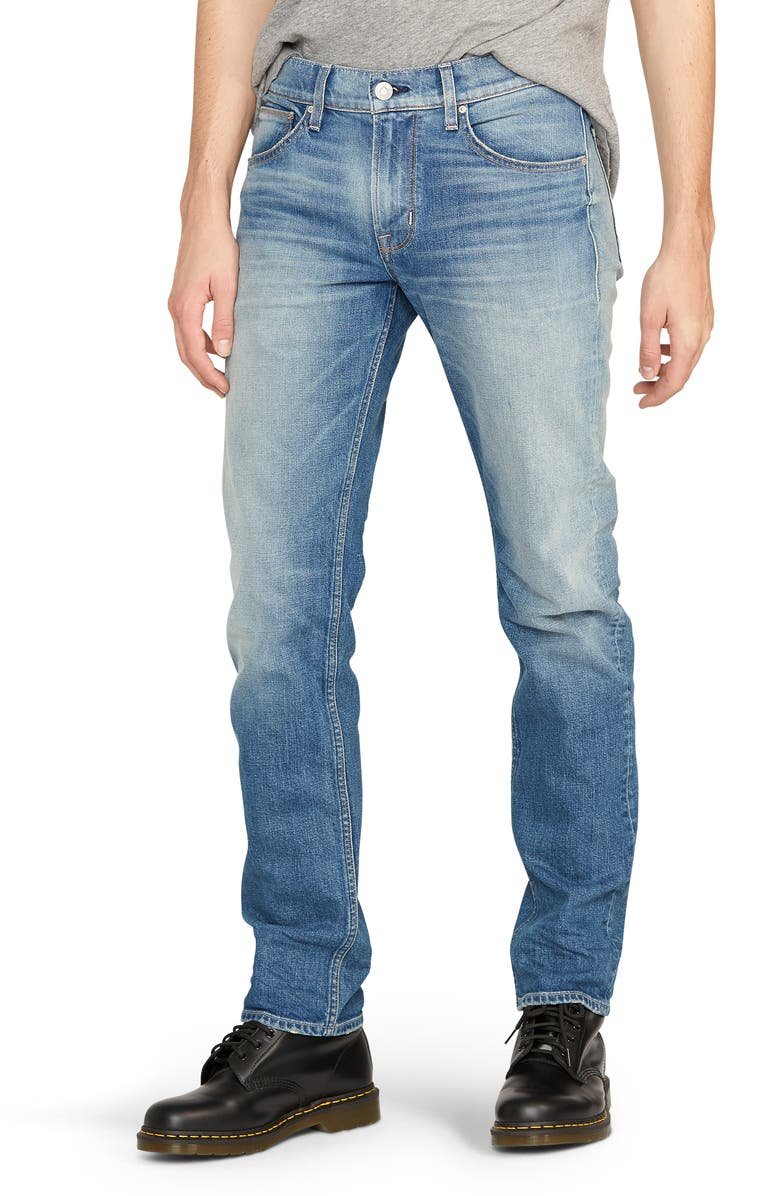 HUDSON JEANS Byron Slim Straight Leg Jeans, Main, color, SAFETY