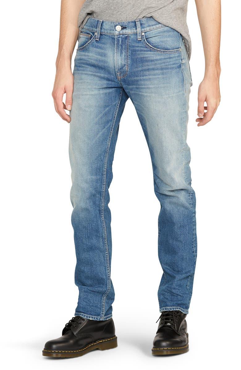 HUDSON JEANS Byron Slim Straight Leg Jeans, Main, color, SAFETY