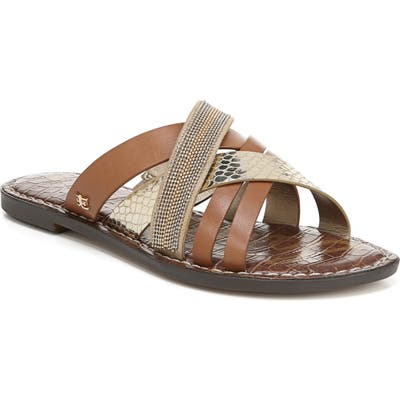 Sam Edelman Glennia Slide Sandal, Brown