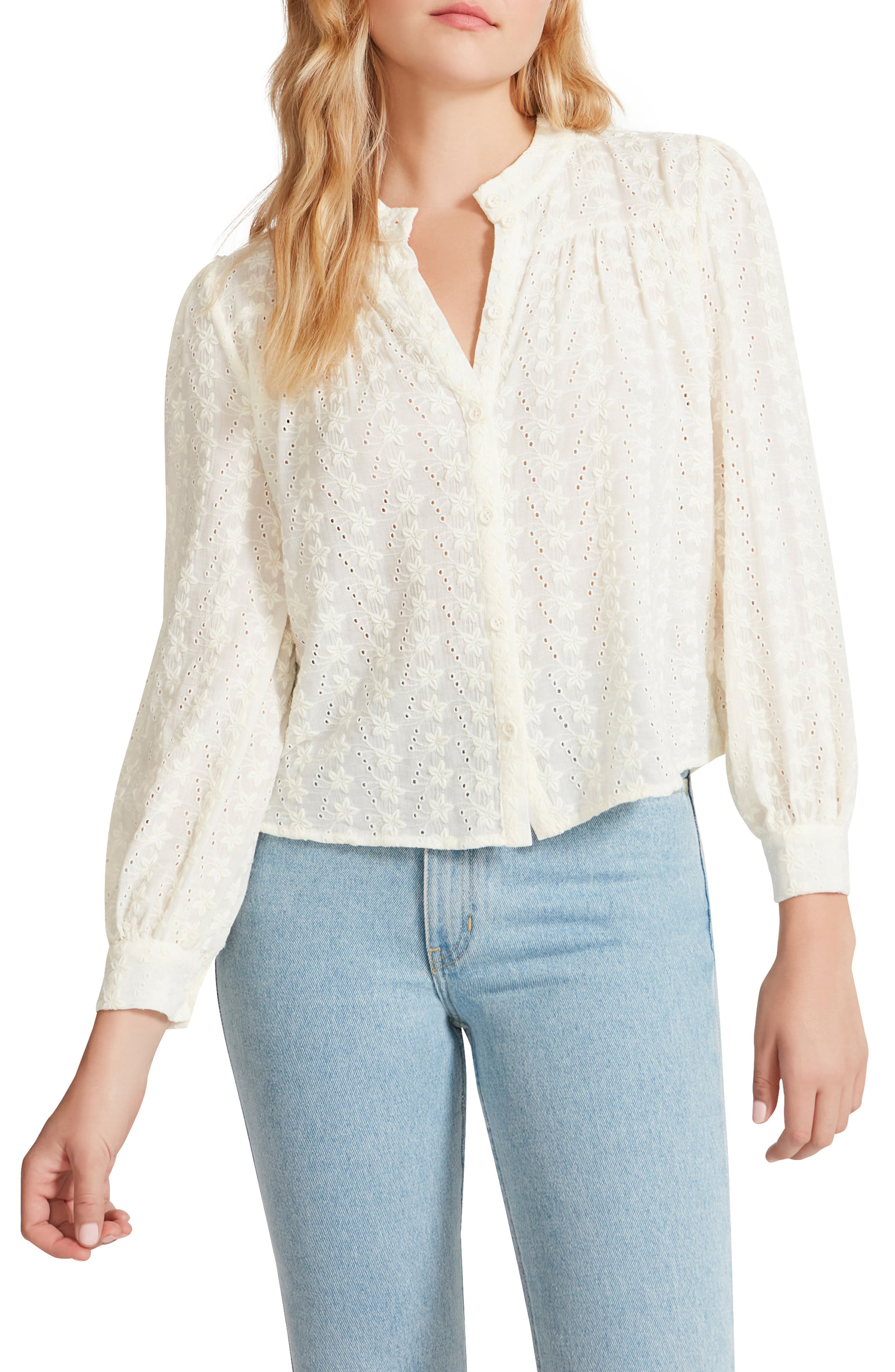In The Details Embroidered Voile Top