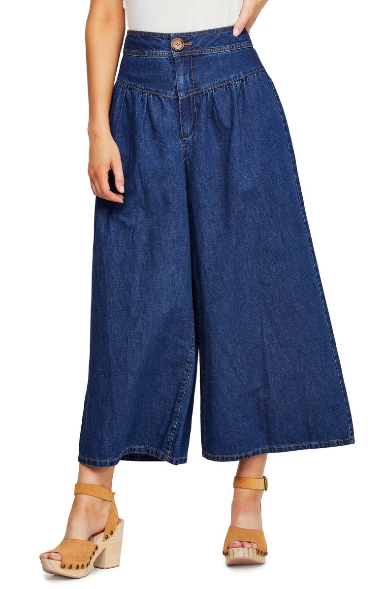 FREE PEOPLE La Bomba Wide Leg Jeans, Main, color, 401