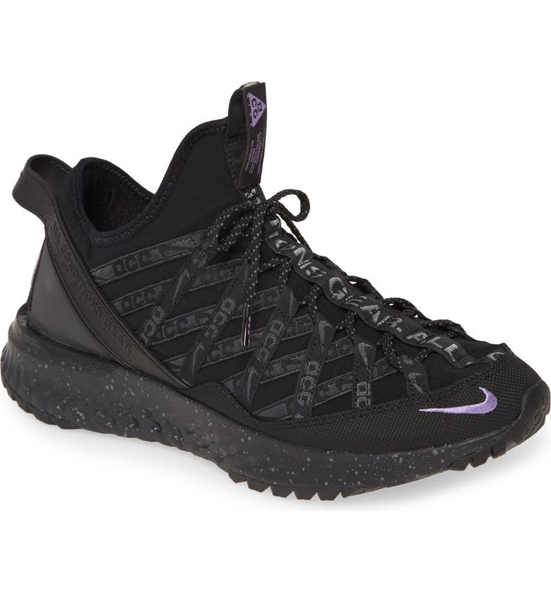 NIKE ACG React Terra Gobe Sneaker, Main, color, BLACK/ PURPLE/ ANTHRACITE