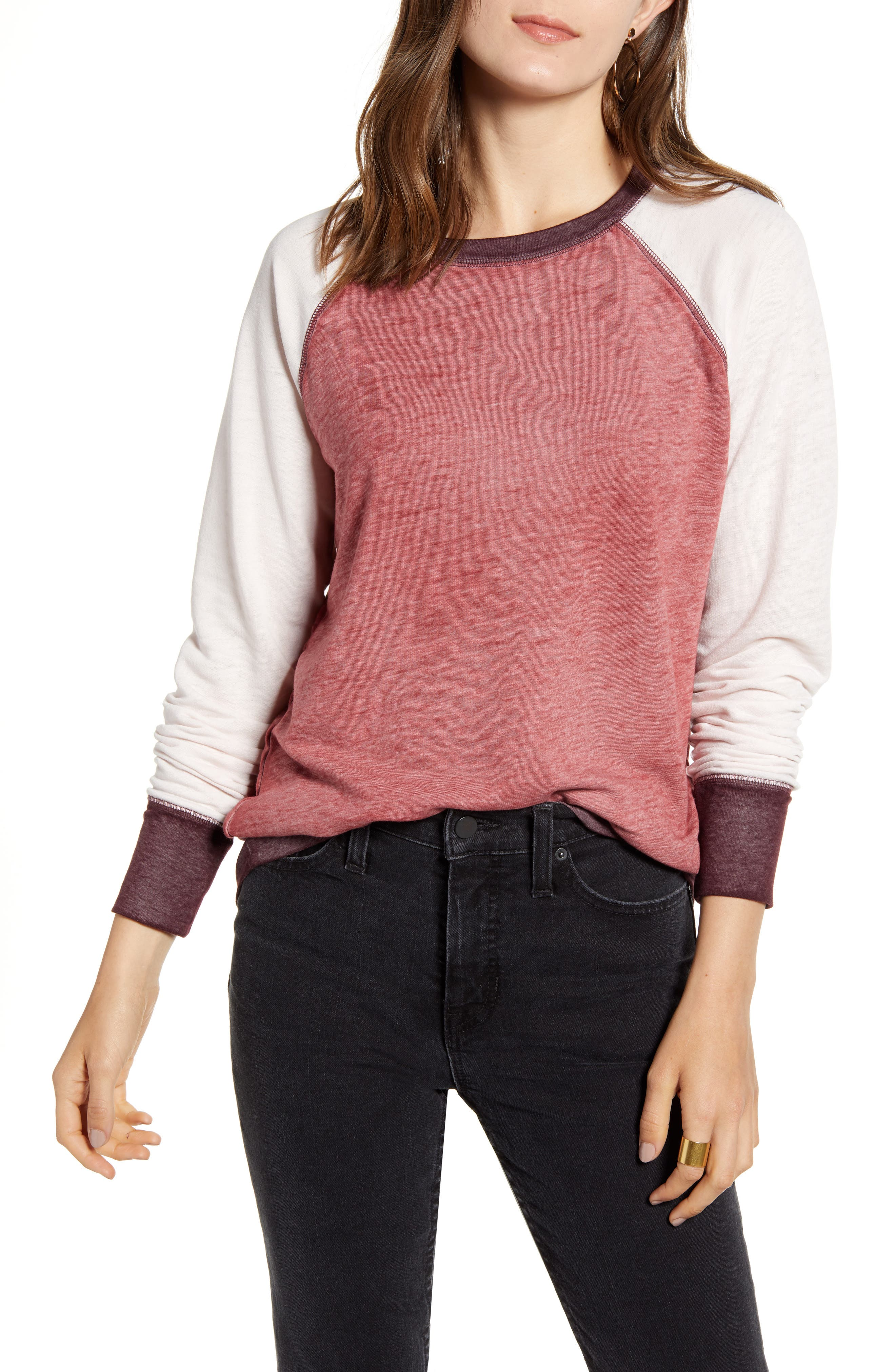 Treasure & Bond Colorblock Crewneck Sweatshirt