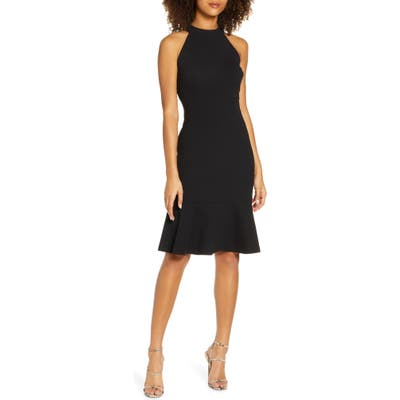 Sam Edelman Halter A-Line Dress, Black