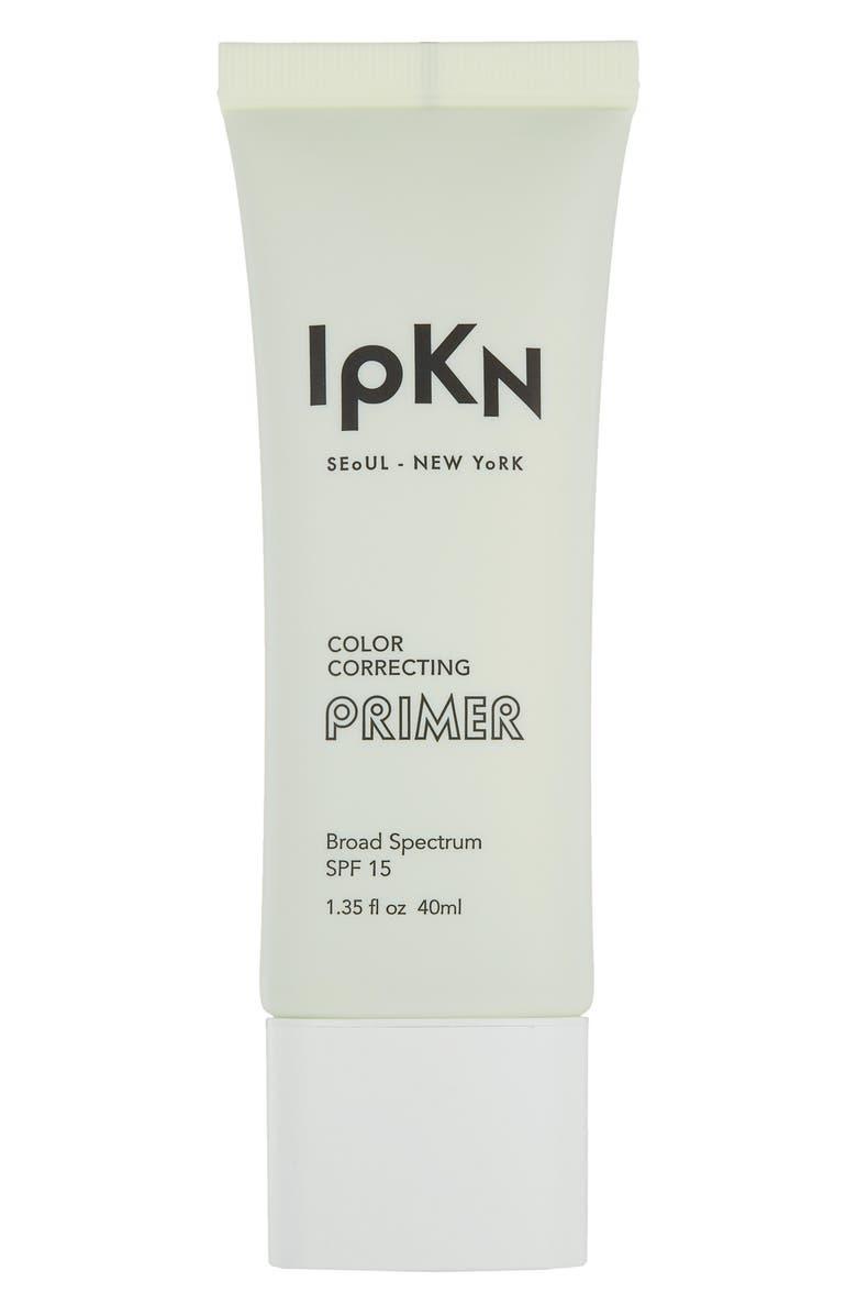 IPKN Green Color Correcting Primer Broad Spectrum SPF 15, Main, color, 330