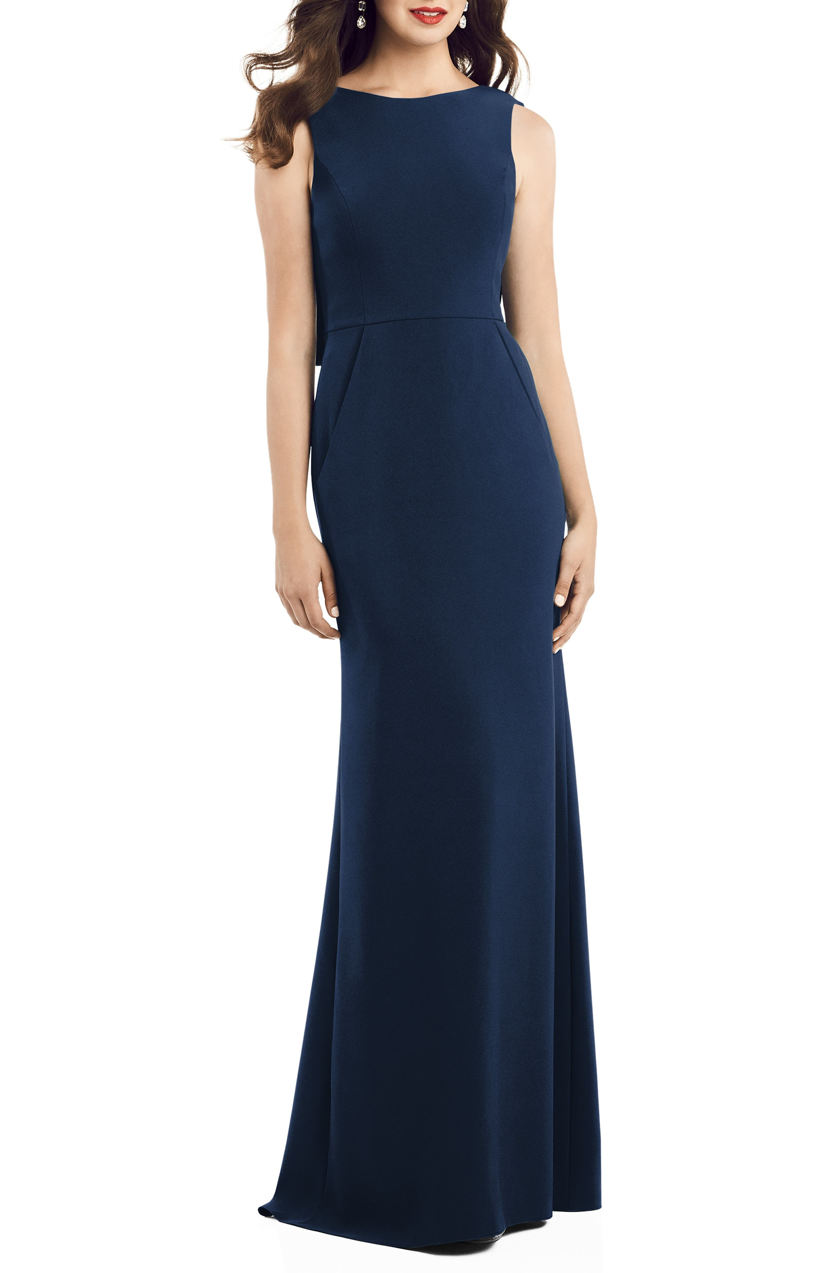 Crepe Trumpet Gown