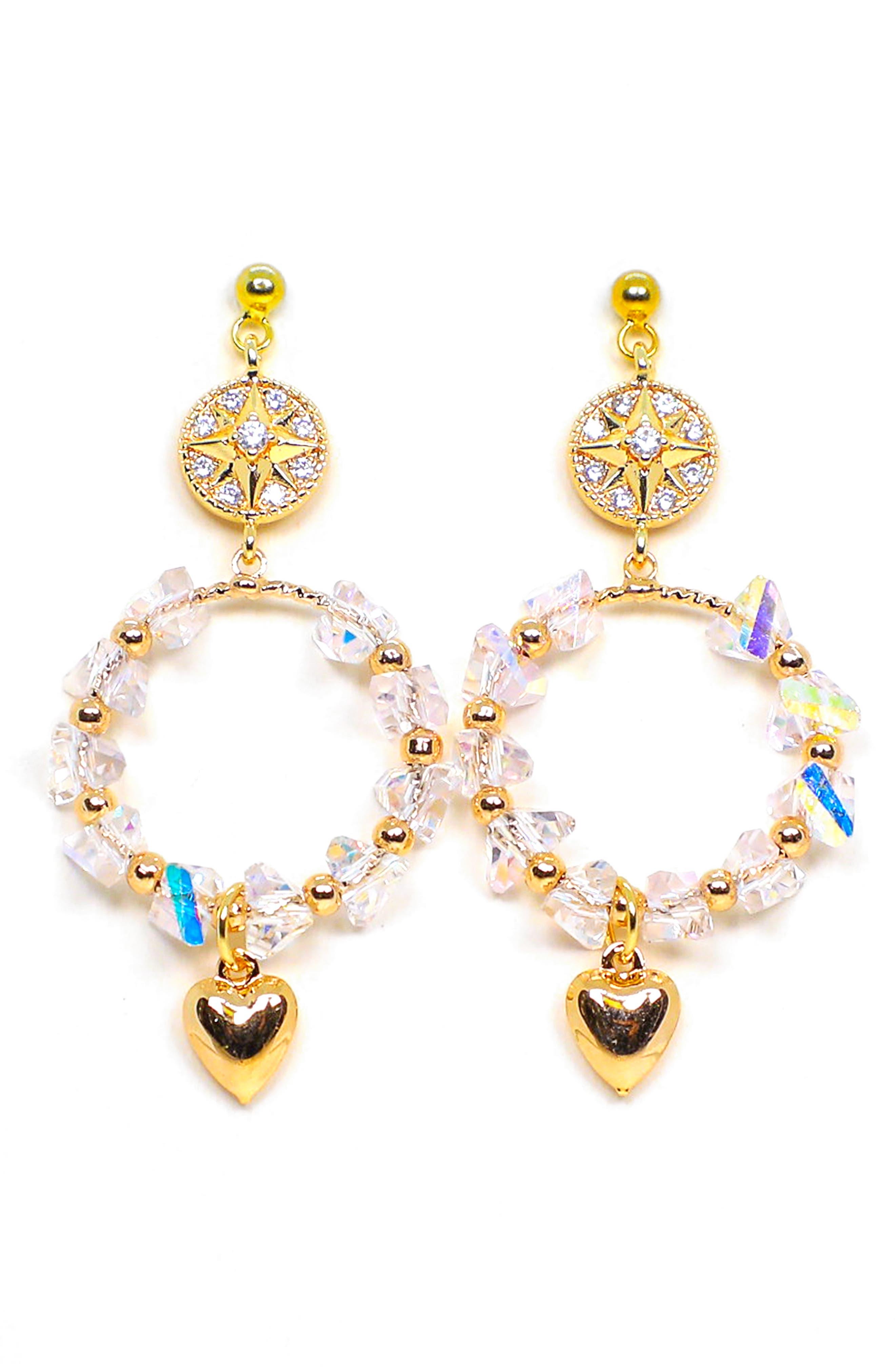 Sweetheart Drop Earrings