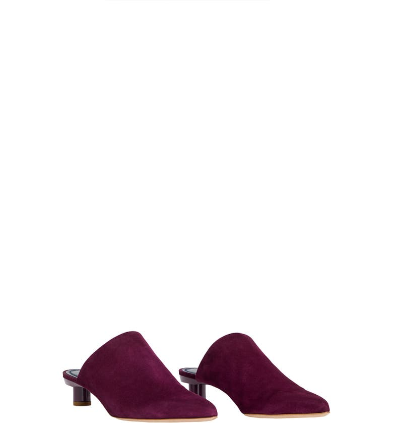 TIBI Juan Pointy Toe Mule, Main, color, DUSTY PLUM