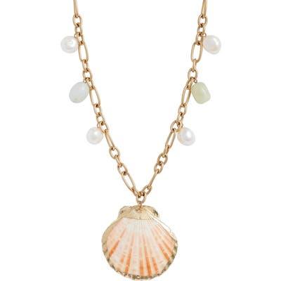 Knotty Shells Pendant Necklace
