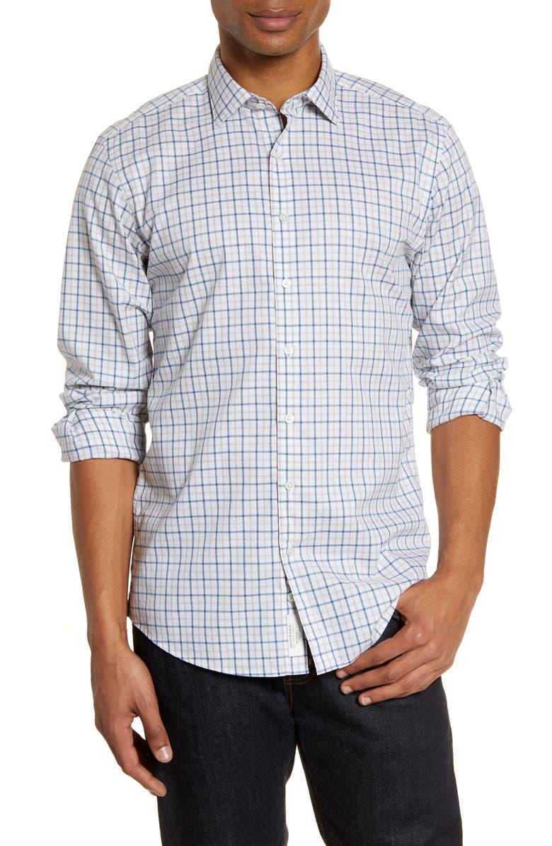 RODD & GUNN Sports Fit Tattersall Plaid Button-Up Shirt, Main, color, IVORY