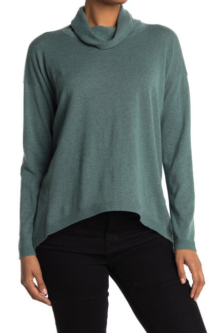 Image of Eileen Fisher Cowl Neck Boxy Cashmere Sweater