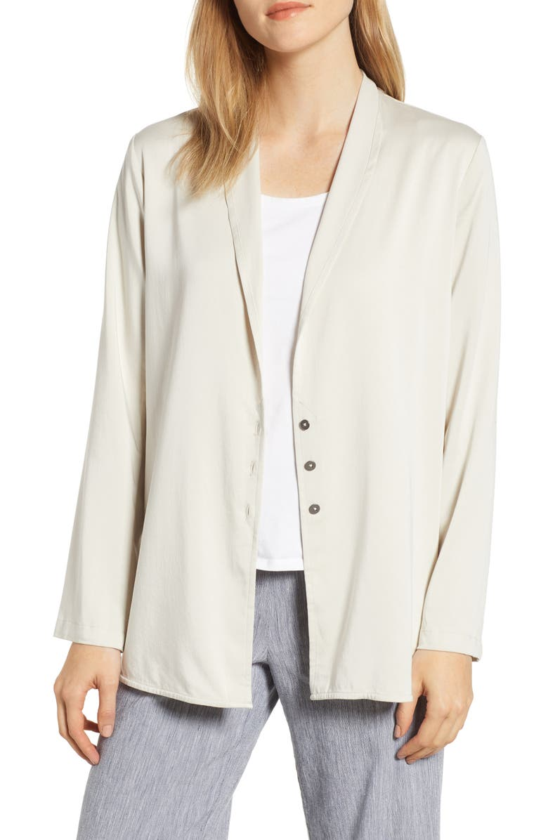 NIC+ZOE Sleek Shirt Jacket, Main, color, STRING