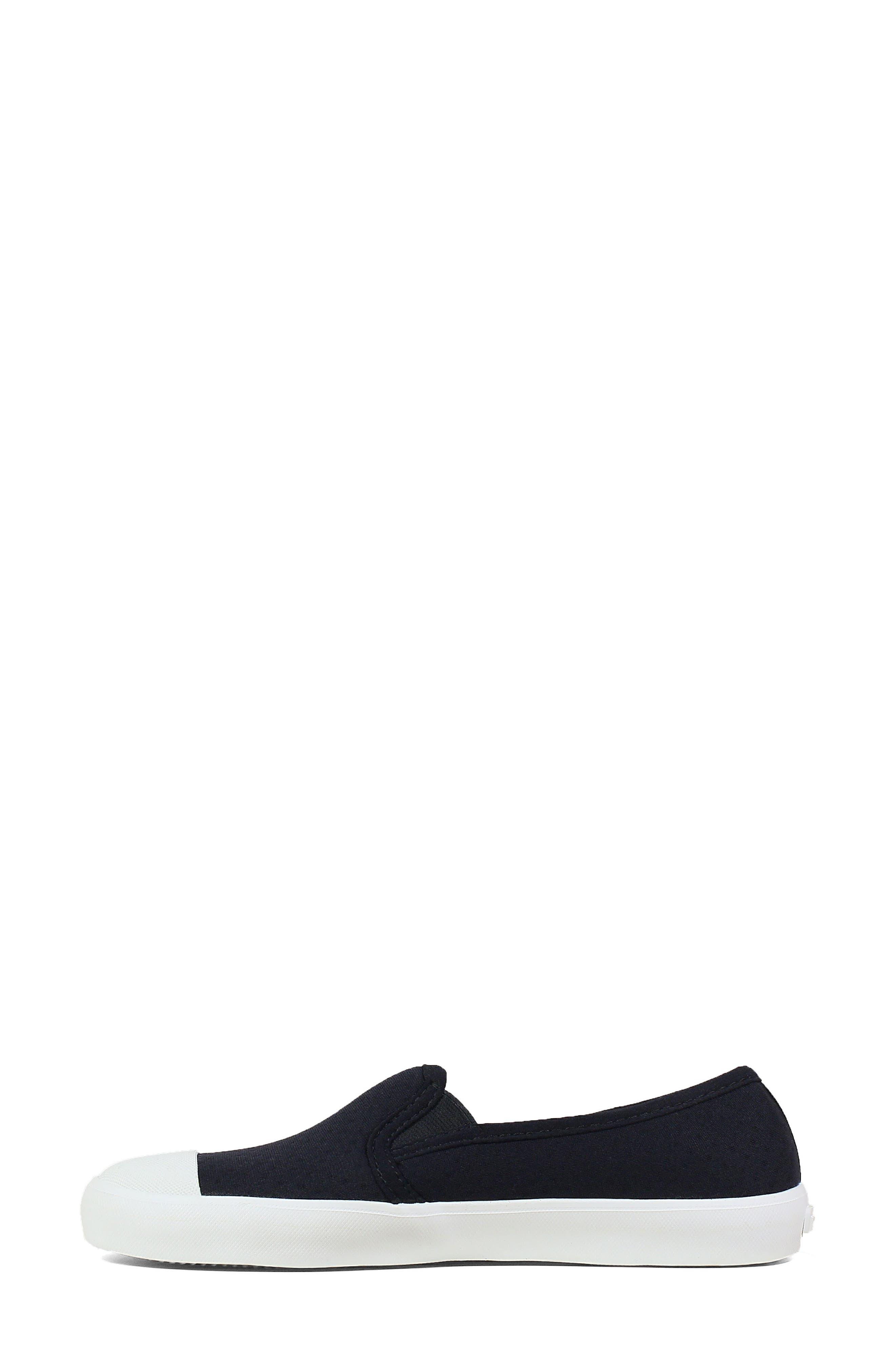 ,                             Kicker Slip-On Sneaker,                             Alternate thumbnail 9, color,                             BLACK CANVAS
