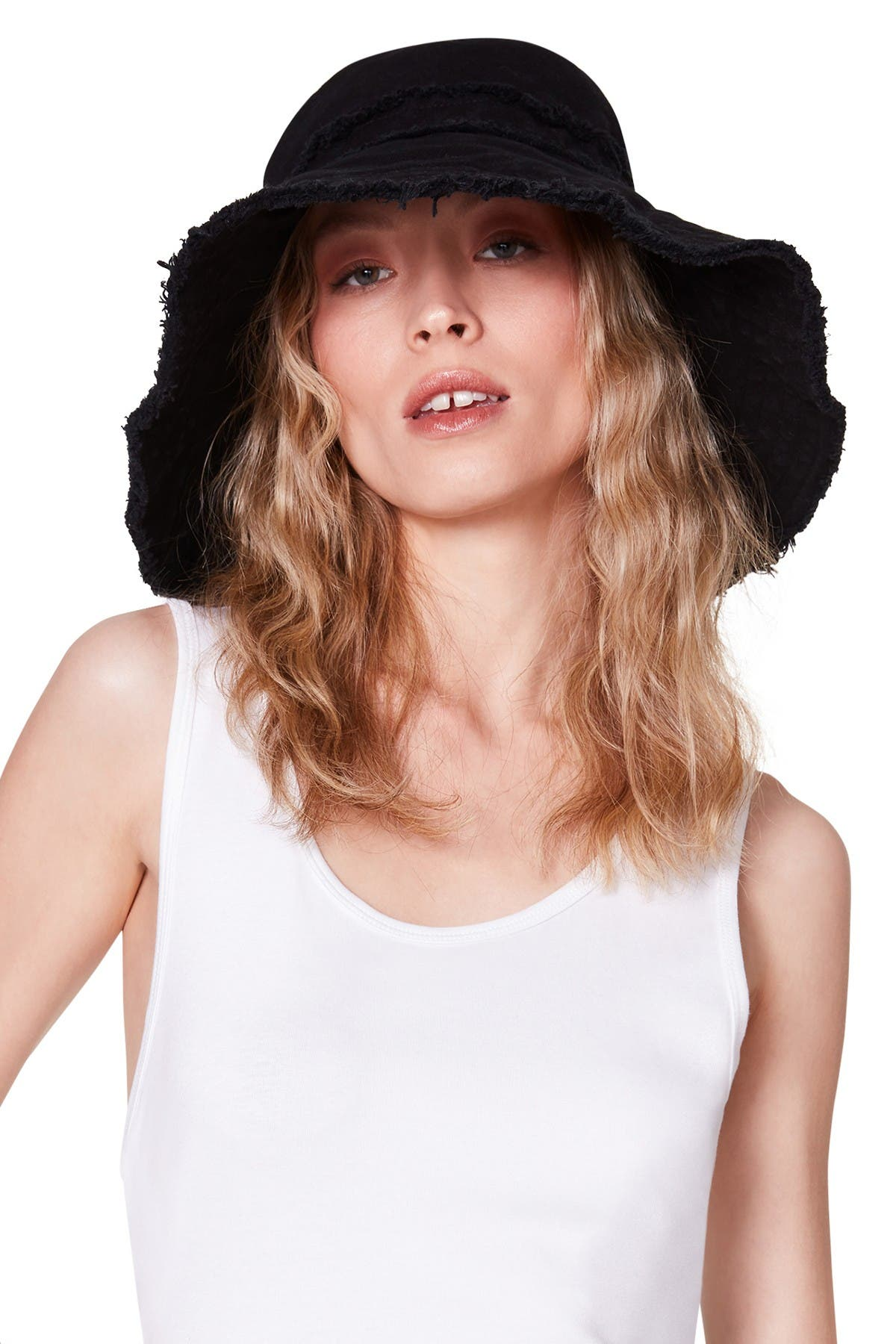 Image of Steve Madden Frayed Canvas Bucket Hat