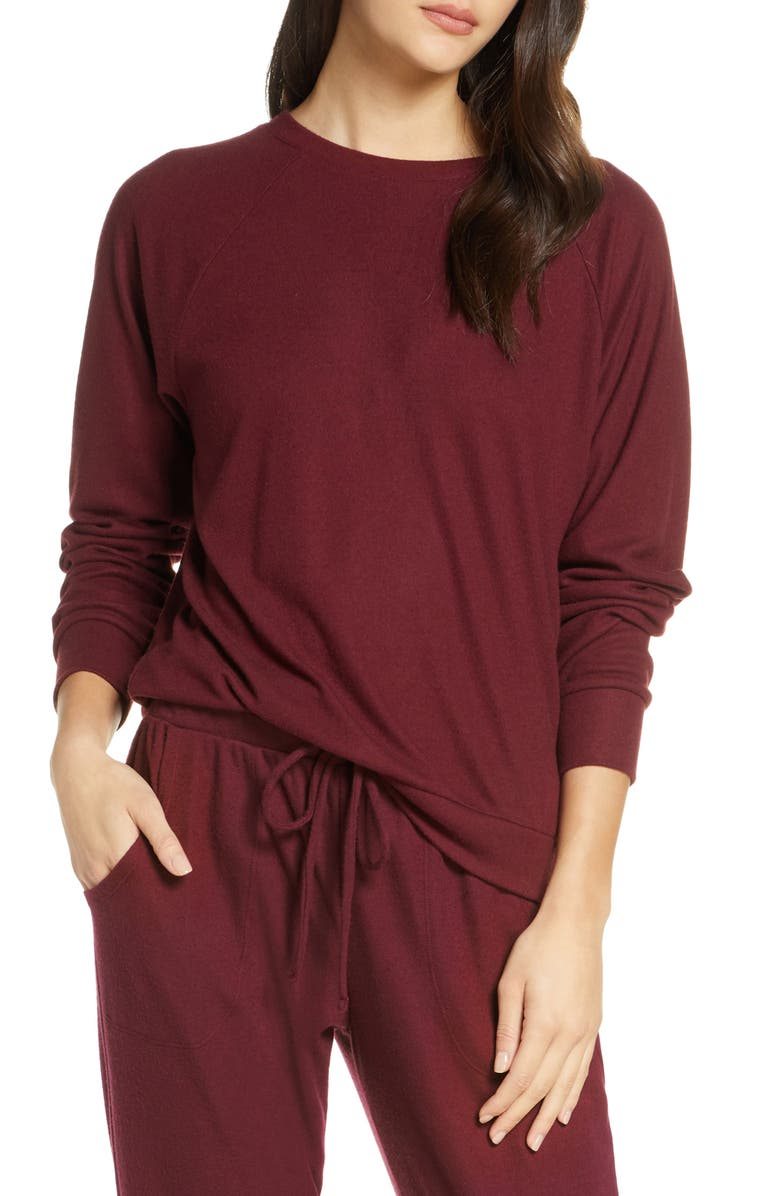 EBERJEY Mina The Ringer Sweatshirt, Main, color, 930