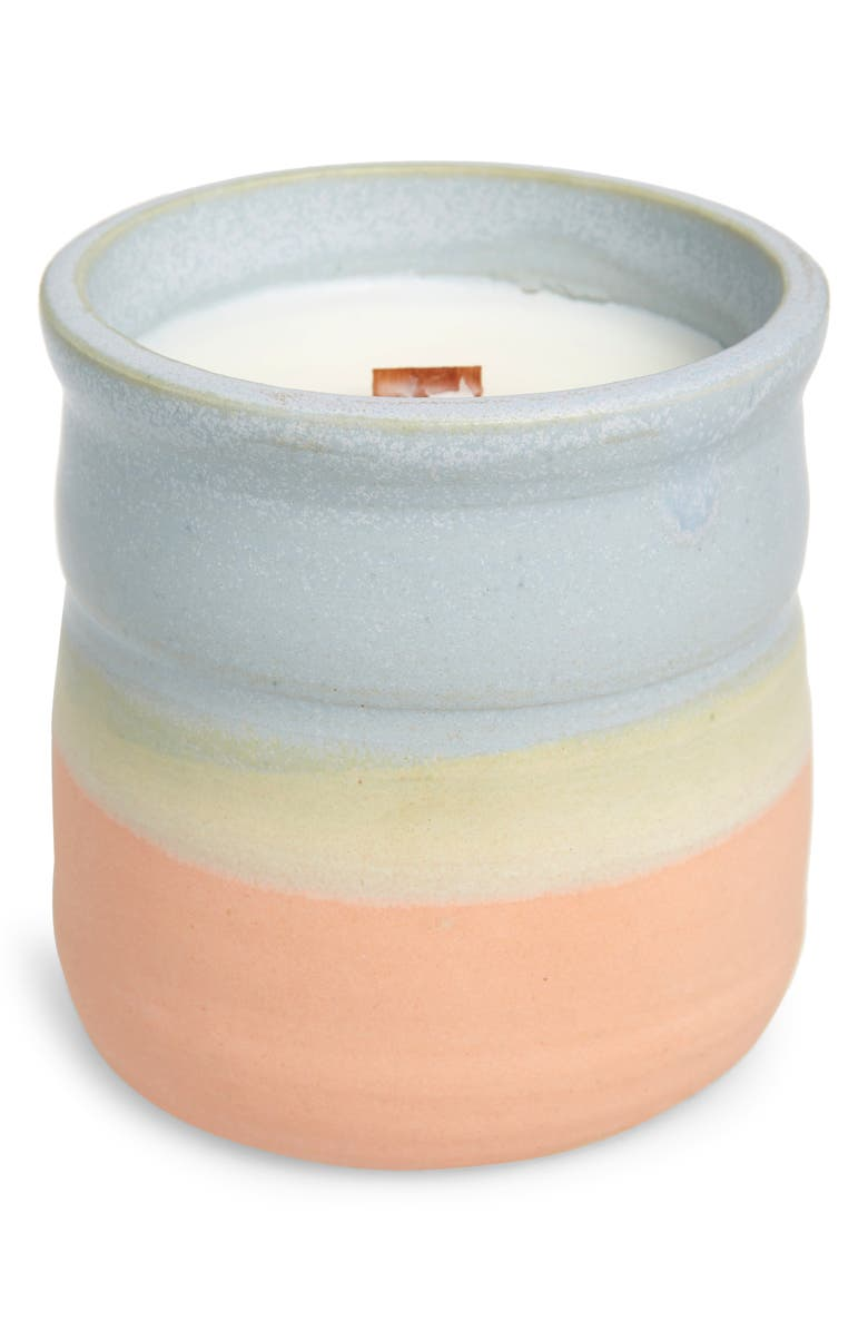 COZIER Vivre White Rose & Kyoto Quince Candle, Main, color, BABY BLUE