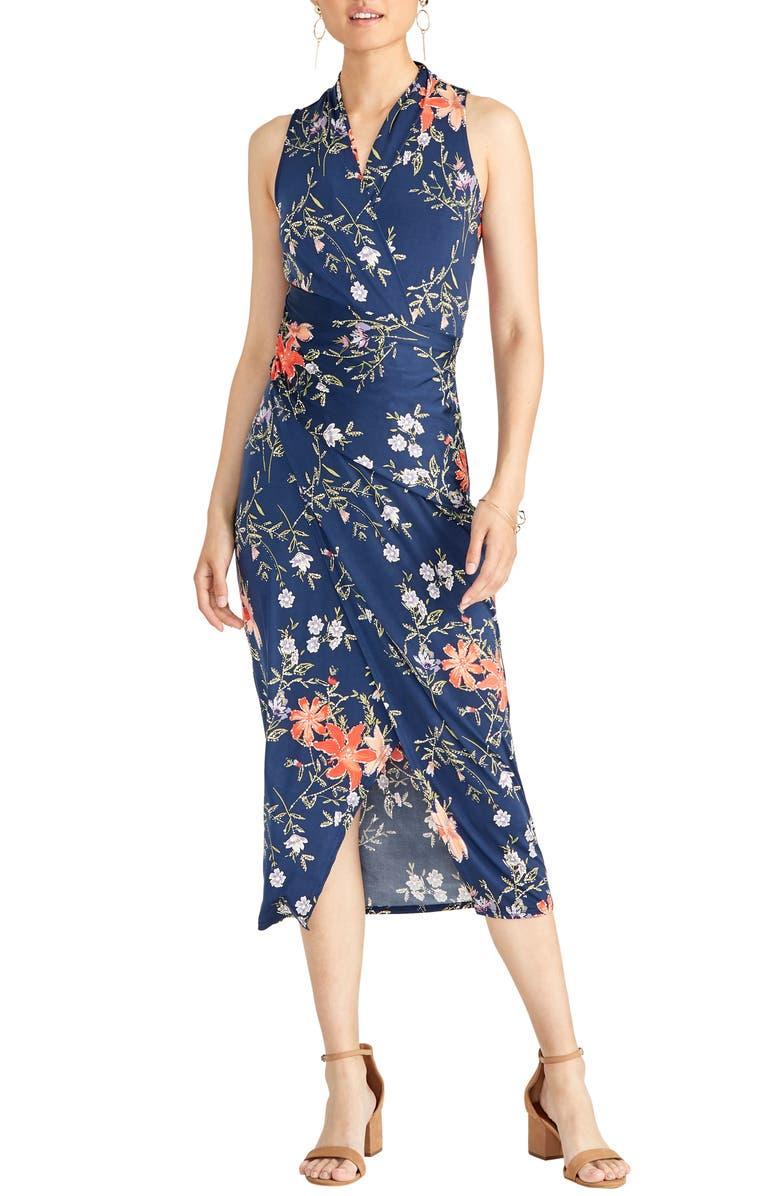 ff49e894128 RACHEL Rachel Roy Floral Faux Wrap Midi Dress (Plus Size)   Nordstrom