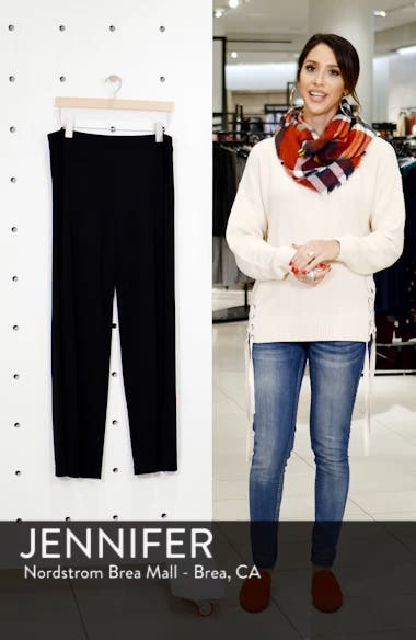Straight Leg Matte Jersey Pants, sales video thumbnail