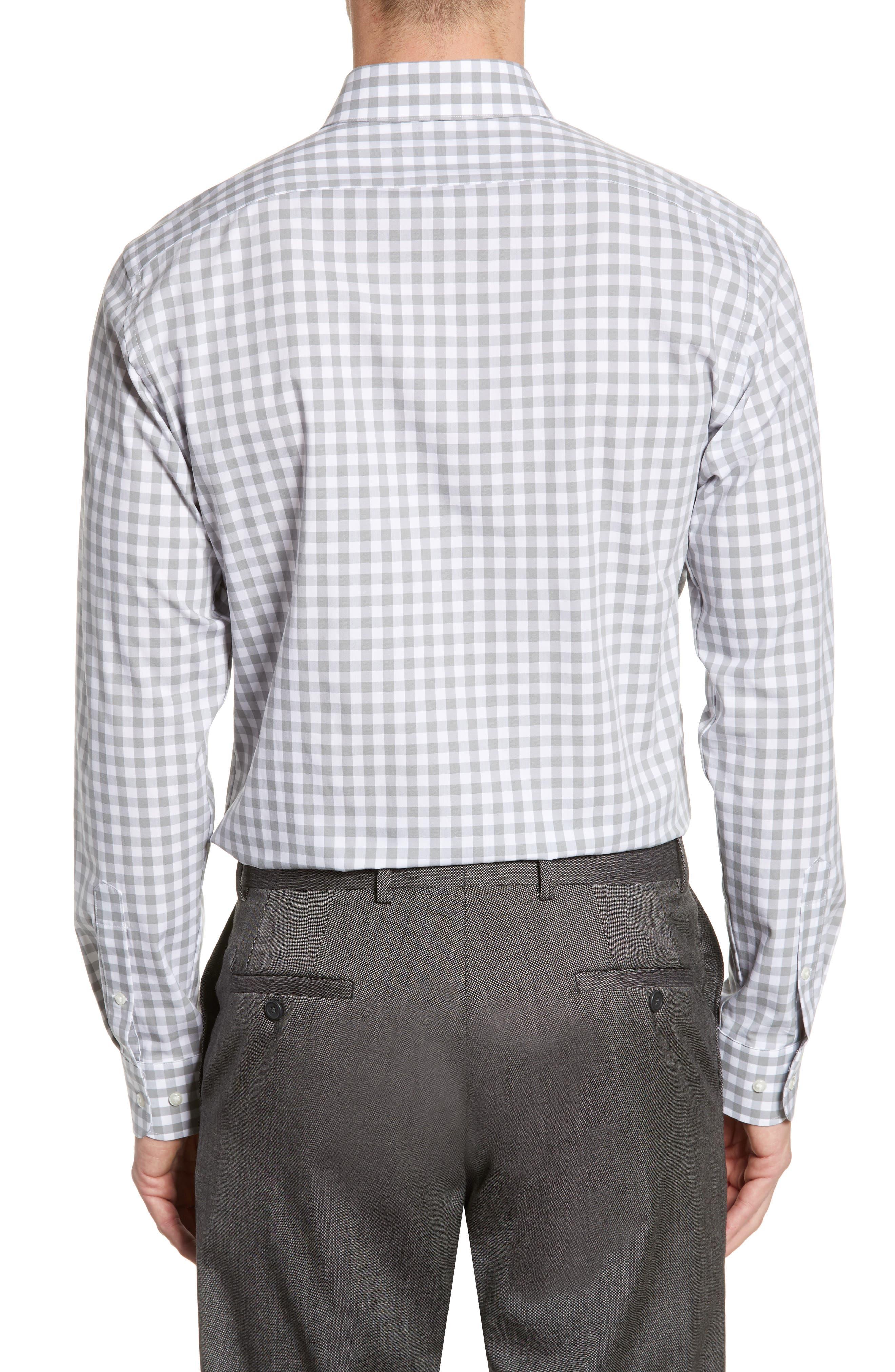 ,                             Tech-Smart Trim Fit Stretch Check Dress Shirt,                             Alternate thumbnail 9, color,                             050