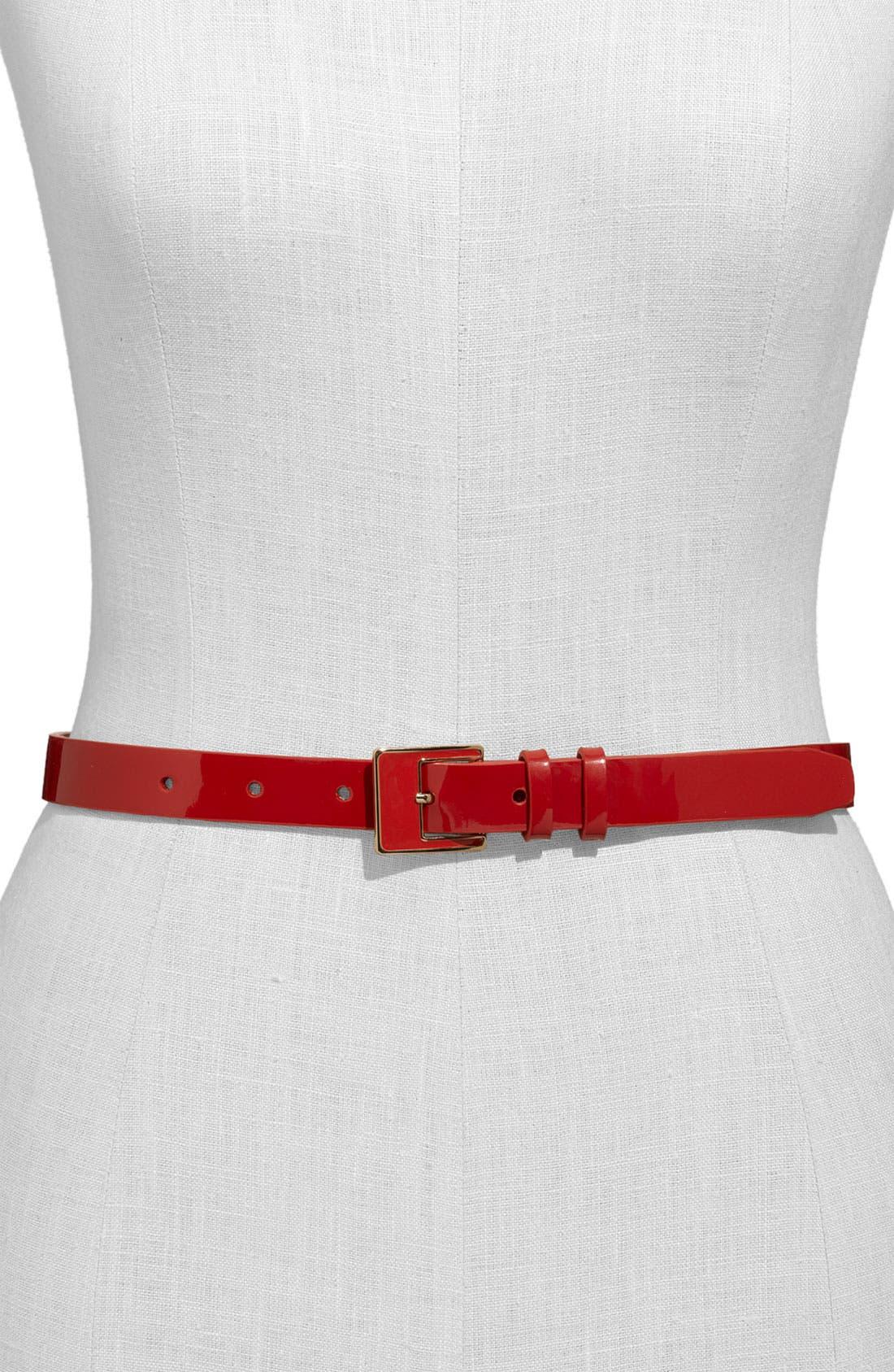 ,                             Patent Leather Belt,                             Main thumbnail 5, color,                             600